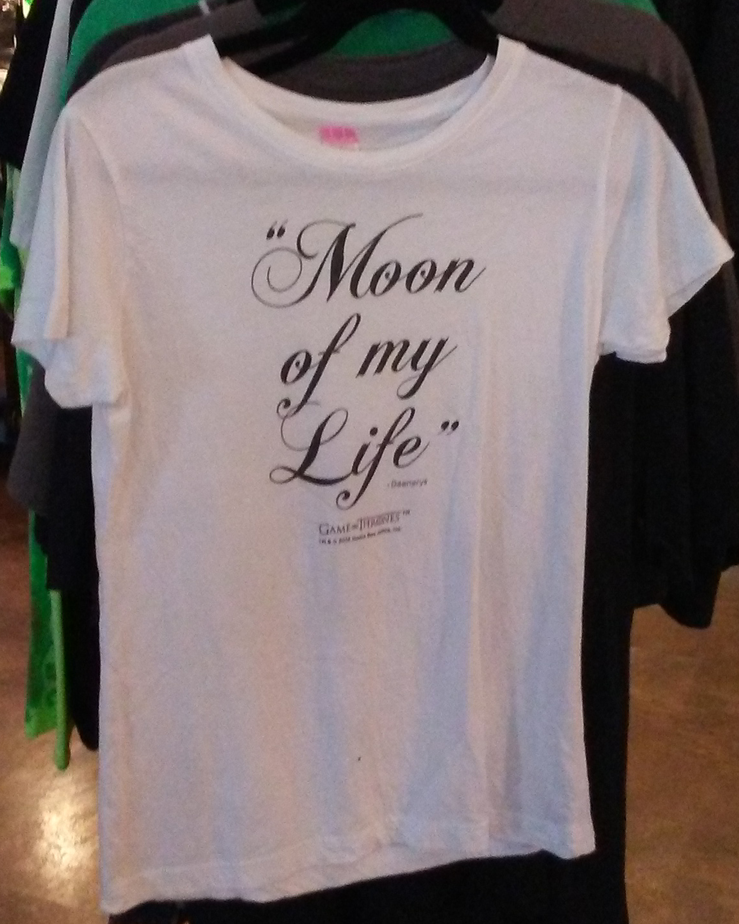 Superstar Universe, LLC HBO Game of Thrones Moon of My Life Women's Slim Fit T-Shirt WITH FREE SHIPPING