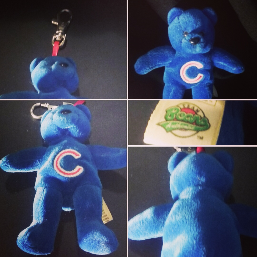 Superstar Universe, LLC Retro Chicago Cubs Plush Bear Keychain WITH FREE SHIPPING