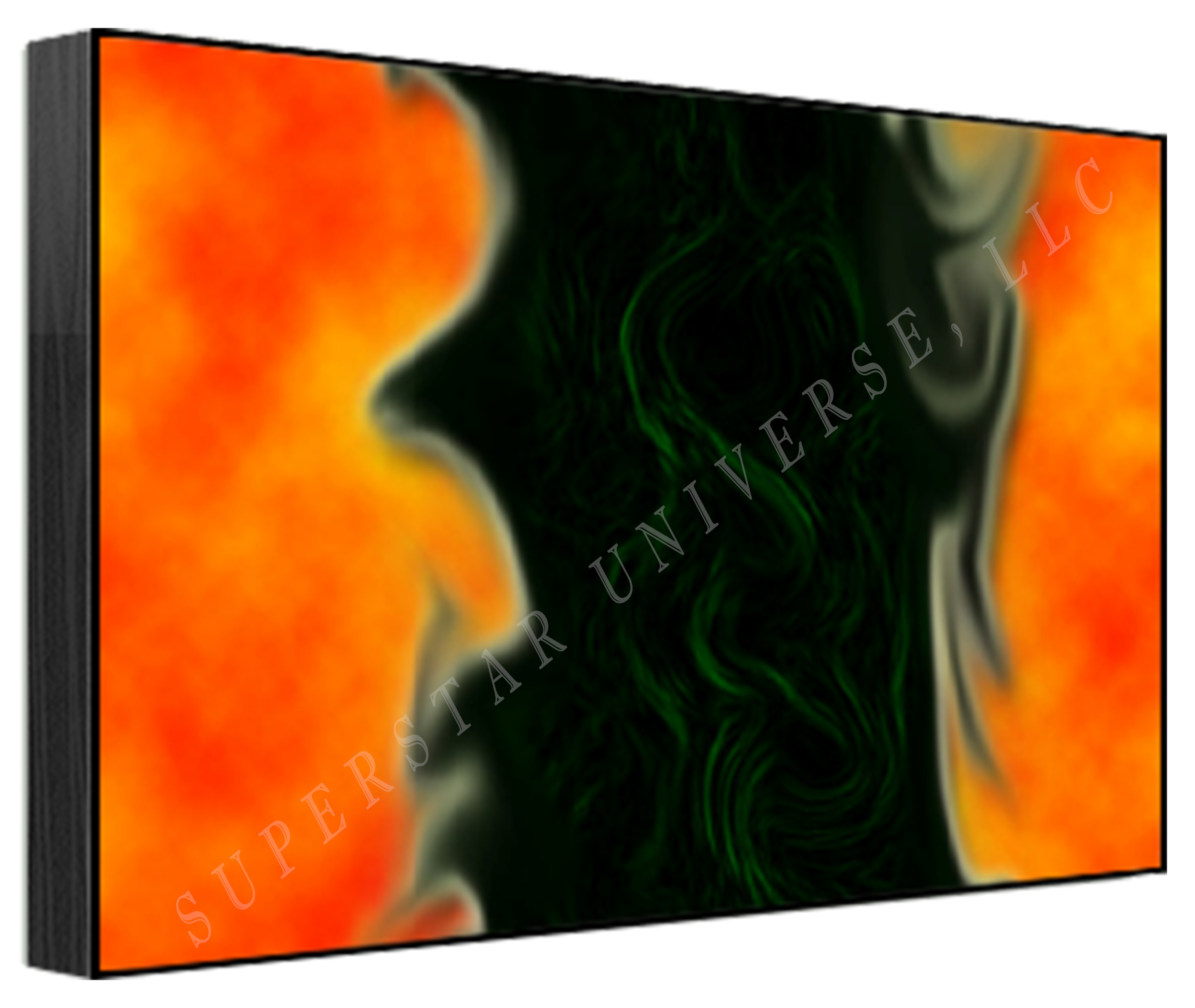 Titled Whispering Flames by Superstar Universe, LLC Signed and Numbered 1/100 12 x 18 Print WITH FREE SHIPPING