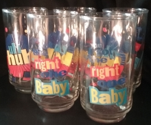 "Superstar Universe, LLC Lot of 5 Vintage Pepsi Glasses ""Uh Huh You Got the Right One Baby"""