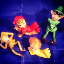 Superstar Universe, LLC Set of Four Vintage Pixie Figurines WITH FREE SHIPPING