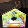 Superstar Universe, LLC Vintage 1995 Polly's Perch Hand Painted Bird House