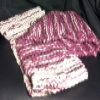 Superstar Universe, LLC Handmade Pink/White Knitted Scarf for Small Child WITH FREE SHIPPING