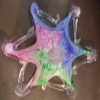 Superstar Universe, LLC Hand Blown Multicolor Wavy Glass Bowl WITH FREE SHIPPING