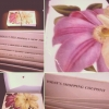 Superstar Universe, LLC Flower Pattern Pocketed Labeled Coupon Organizer With Elastic Closure WITH FREE SHIPPING