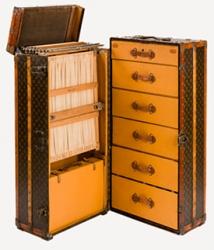 Vintage Top-Loader Wardrobe Louis Vuitton Steamer Trunk Superstar Universe, LLC Product Blog