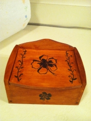 Superstar Universe, LLC Handcrafted Pyrography Wood Keepsake Box WITH FREE SHIPPING