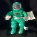 Superstar Universe, LLC Vintage 1997 GREEN INTEL BUNNY PEOPLE PLUSH Spaceman
