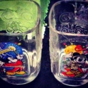 Superstar Universe, LLC Set of Two Retro Disney World Mcdonalds Mickey & Minney Mouse Collectable Drinkinq Glasses WITH FREE SHIPPING