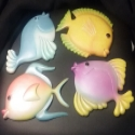 Superstar Universe, LLC Lot of 4  Ceramic Hanging Wall Art Tropical Fish Display WITH FREE SHIPPING